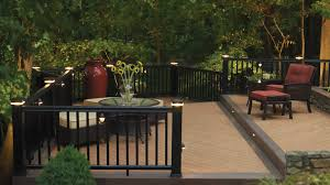 exterior deck lighting. TimberTech RadianceRail With Post Cap Lights, Rail Lights And Riser Surrounds A Composite Deck Exterior Lighting U