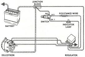 alternator wiring diagrams and information com typical externally regulated alternator wiring instructions for the early gm delco remy external regulated alternator