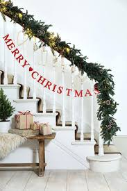 stair rail christmas garland best stairs decorations ideas on banister  railing outside