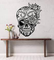 sugar skull wall decal sugar skull
