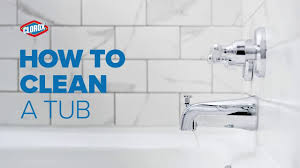 clorox how to clean a tub