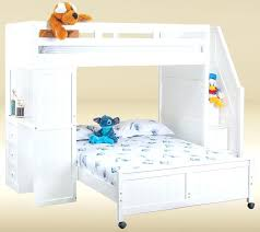White Loft Twin Bed Endearing White Twin Over Full Bunk Bed With ...
