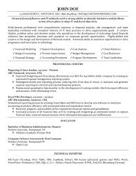 Financial Data Analyst Resume Financial Data Analyst Resume Samples