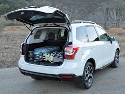 the forester has 31 5 cu ft of cargo room with the folding rear seats