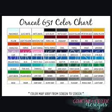 Oracal Vinyl Color Chart Pdf Oracal 651 Vinyl Color Chart Digital Download Png Pdf File Bundle Downloadable Color Chart Customized Color Chart