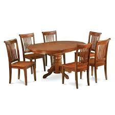 east west furniture dining set east west furniture oak w 7 piece dining table and 6 east west furniture dining