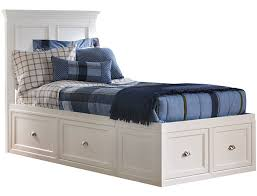 Abbott White Youth Twin Panel Bed with 2 Sided Storage | Art Van Home