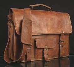 details about mens genuine leather vintage laptop shoulder briefcase messenger bag satchel 15