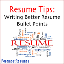 Tips For Writing Better Resume Bullet Points Magnificent Tips For Writing A Resume