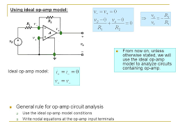 using ideal op amp model ideal op amp model from now on