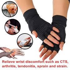 <b>Copper Fiber Compression</b> Gloves Health Care Relieve Pain Semi ...