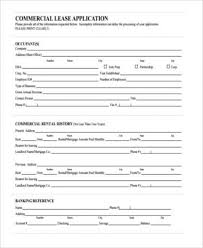 Commercial Lease Application Form All Or Printable Sample Agreement ...