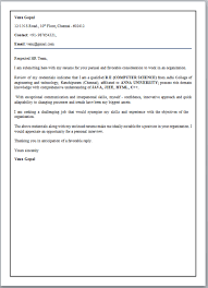 Cover Letter For Fresher Electronics Engineer Sample Cover Letter
