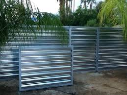 corrugated metal fence palm springs style
