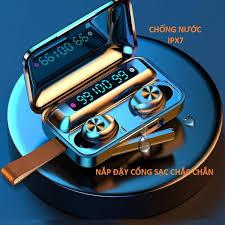 Tai Nghe True Wireless VINETTEAM F9 PRO Bluetooth V5.0 Pin 2000 mAh Kiêm  Sạc dự phòng - Hàng Chính Hãng