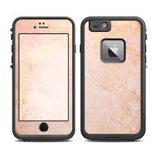 iphone 6 gold and white. lifeproof iphone 6 plus fre case skin - rose gold marble iphone and white e