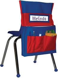 classroom chair back. carson-dellosa publishing chairback buddy pocket chart, 12 x 22 blue/red classroom chair back c