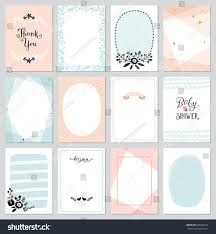 cards templates contemporary universal cards templates geometric oval stock vector