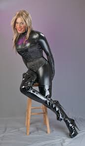 Latex catsuit and boots tgirl flickr