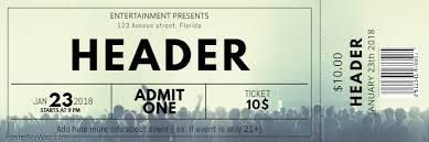 Free Concert Ticket Template Postermywall