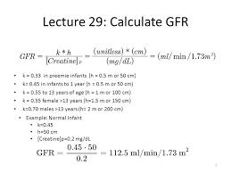 2 lecture 29 calculate gfr