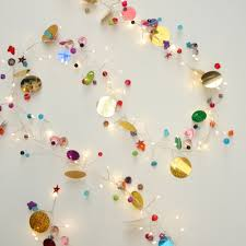 Beaded Fairy Lights Folklore Multi Coloured Beaded Garland 108 Led String Lights Battery Operated