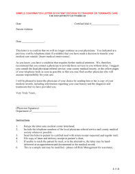 Medical Records Request Letter From Attorney Sample Confirmation Letter Of Patient Decision To Transfer