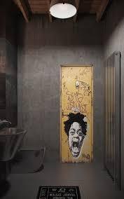 view in gallery industrial urban masculine apartment nordes bathroom door interior