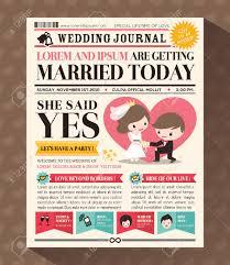 cartoon newspaper journal wedding invitation design template superb newspaper invitation template
