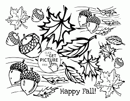 Small Picture Happy Fall coloring pages for kids fall leaves printables free
