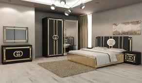 Schlafzimmer Set Double G In Schwarz Gold Kaufen Bei Kapa Möbel