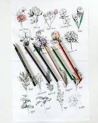 Herb Flower Adult Coloring Pages