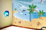 Разрисовать стену ванной