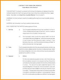 Marketing Services Contract Template Consultant Contract Template