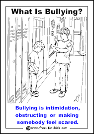 Small Picture Printable Anti Bullying Colouring Pages