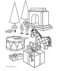 Christmas Toy Coloring Page 009