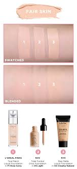 Shade Matcher Foundation Swatches For Loreal Paris