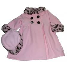 good lad baby girls pink faux fur coat hat
