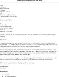 Cover Letter For Photography 4 Sample A Photographer