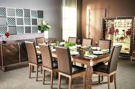 classic dark wood dining table grey carpet in white geometric l pattern shabby chic