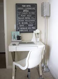 office desk space. Black \u0026 White Decor | Small Desk Space StyledByBlondie.com Office