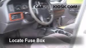 interior fuse box location 1993 1998 jeep grand cherokee 1998 locate interior fuse box and remove cover