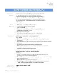 Maintenance Mechanic Resume Examples Best of Maintenance Technician Resume Examples Electrician Apprentice