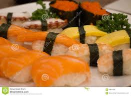 Japanese Food Mix Sushi Stock Image Image Of Wheel Sushi