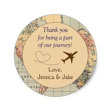 thank you tags for wedding favors personalised thank you stickers wedding favors classic round