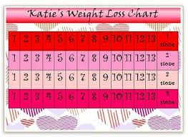 Weight Watchers 5 Chart Personalised Weight Loss Chart Hearts Slimming World
