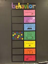 Kindergarten Classroom Behavior Chart Pbis Behavior Clip Chart Using Magnets Instead Of Clips