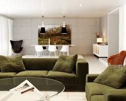 Green White Orange Living Room