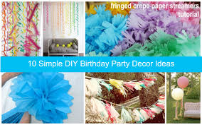 home decor cool birthday party decoration ideas at home style