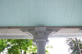 color diary blue porch ceilings